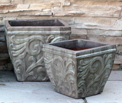 Anamese Acanthus Square Planter Set of 2