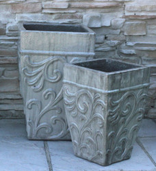 Anamese Acanthus Tall Square Planter Set of 2
