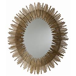 Prescott Large Oval Mirror - Antiqued Gold Leaf
