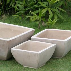Anamese Milan Low Square Bowls Set of 3