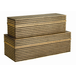 Trinity Boxes, Set of 2 - Light Brown Wood