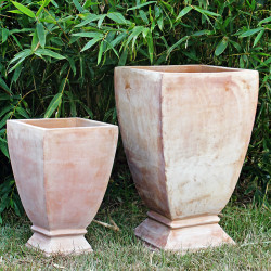 Anamese Milan Square Footed Urn Set of 2