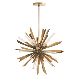 Waldorf Small Chandelier - Antique Brass