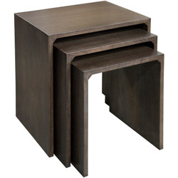 Chesterfield Nesting Tables S/3 - Oak