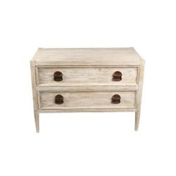 Reclaimed Lumber 2-Drawer Nightstand
