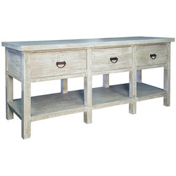 Reclaimed Lumber Console W/ 3 Drawers
