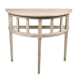 Reclaimed Lumber Demi Lune Table