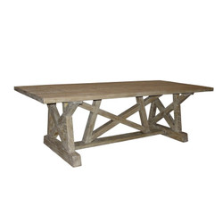 Reclaimed Lumber Pentagon Dining Table - 108""
