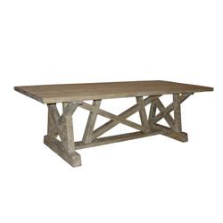 "Reclaimed Lumber Pentagon Dining Table - 144"""