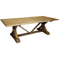 Reclaimed Lumber X-Dining Table - 108""
