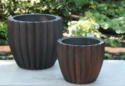 Anamese Fluted Planter with Liner