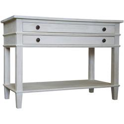 Washed Oak 2-Drawer Nighstand - 1 Shelf