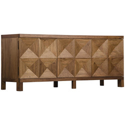 3 Door Quadrant Sideboard - Dark Walnut