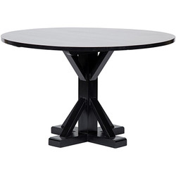 "48"" Criss-Cross Round Table - Hand Rubbed Black"