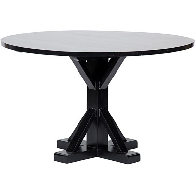 """48"""" Criss-Cross Round Table - Hand Rubbed Black"""