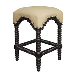 Abacus Counter Stool - Hand Rubbed Black