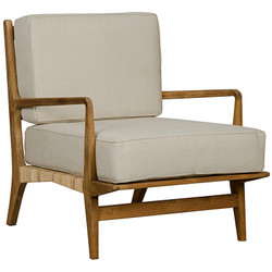 Allister Chair w/ Rattan - Teak
