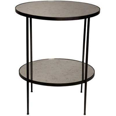 Anna Side Table w/ Antiqued Mirror
