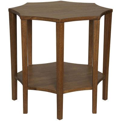 Ariana Side Table - Dark Walnut