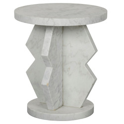 Belasco Side Table - Marble