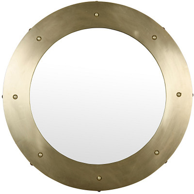 Clay Mirror - Large - Antique Brass Finish