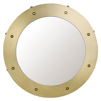 Clay Mirror - Small - Antique Brass Finish