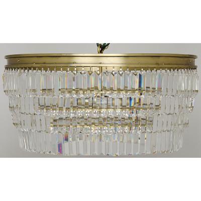 Crystal Pendant - Large - Antique Brass Finish