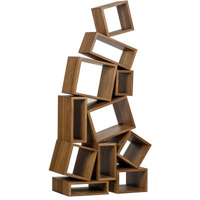 Cubist Bookcase - Dark Walnut