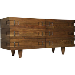 Noir David Sideboard - Dark Walnut