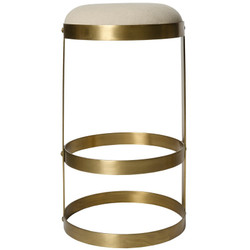 Dior Bar Stool - Antique Brass