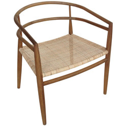 Finley Chair w/ Rattan - Teak