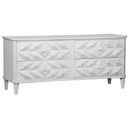 Giza 4 Drawer Dresser - White Weathered