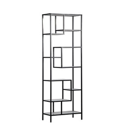 Haru Bookcase Large - Metal and Quartz