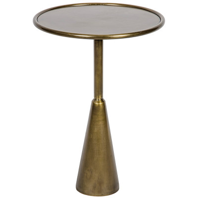 Hiro Side Table - Antique Brass Finish