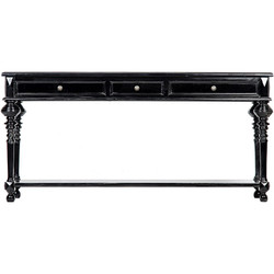 Large Colonial Sofa Table - Black
