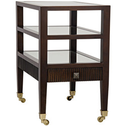 Lesly Side Table - Distressed Brown