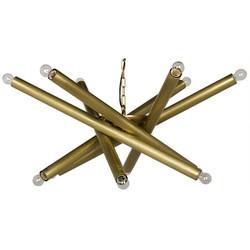 Lex Chandelier - Antique Brass Finish