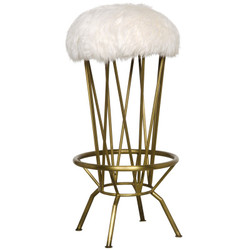 Marsha Barstool - Gold Finish