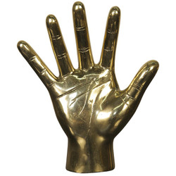 Open Hand - Brass