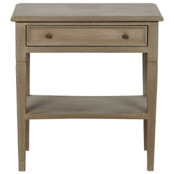 Oxford 1 Drawer Side Table - Weathered