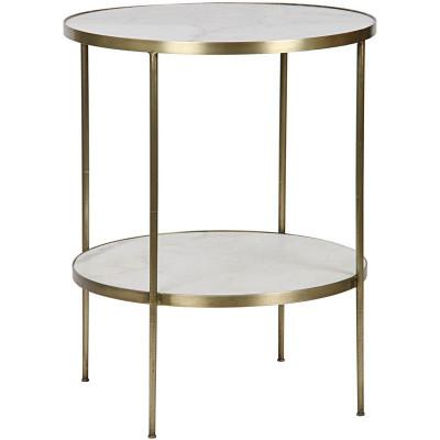 Rivoli Side Table - Antique Brass Finish