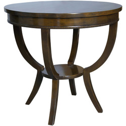 Scheffield Side Table - Distressed Brown
