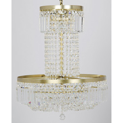 St. Petersburg Chandelier - Antique Brass Finish