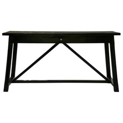 Sutton Desk - Distressed Black