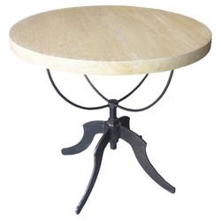 Wine Table w/ Adjustable Metal Base - Vintage Grey