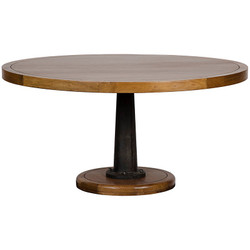 Yacht Dining Table - w/ Cast Pedestal