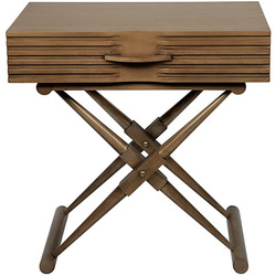 Zanta Side Table - Saddle Brown