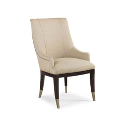 A La Carte - Linen Dining Chair with Silver Cap Ferrules - Set of 2