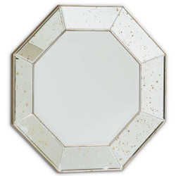 Looking Glass - Octagonal Mirror with Antiqued Mirror Frame