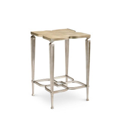 Lucky Charm - Clover Taupe Silver Side Table